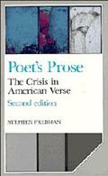 Poet's Prose The Crisis in American Verse