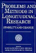 Problems and Methods in Longitudinal Research Stability and Change