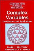 Complex Variables Introduction and Applications