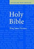 Holy Bible King James Version Standard Text Edition, Blue