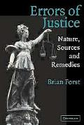 Errors of Justice Nature, Sources, and Remedies