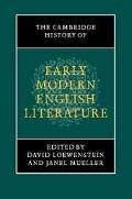 Cambridge History of Early Modern English Literature