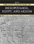 Ancient Languages of Mesopotamia, Egypt and Aksum