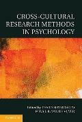 Cross-Cultural Research Methods in Psychology