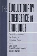 Evolutionary Emergence of Language Social Function and the Origins of Linguistic Form
