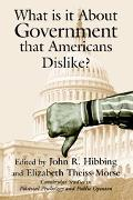 What Is It About Government That Americans Dislike