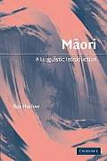 Maori A Linguistic Introduction