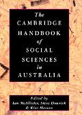 Cambridge Handbook of Social Sciences in Australia