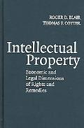 Intellectual Property Economic And Legal Dimensions Of Rights And Remedies