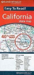 Rand Mcnally Easy to Read California Folded Map