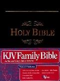Family Bible, Reference Edition: King James Version (KJV), black imitation leather, words of...