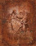 KJV Deluxe Family Traditions Bible with World's Visual Reference System - Christ and the Chi...