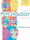 Study Guide for Plotnik's Introduction to Psychology