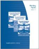 Working Papers, Chapters 1-15 for Warren/Reeve/Duchac's Corporate Financial Accounting, 11th...