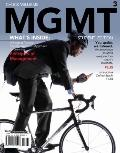 MGMT 3 (with Review Cards and Management CourseMate with eBook Printed Access Card) (Availab...