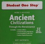 World History: Student One Stop DVD-ROM Ancient Civilizations Through the Renaissance 2012