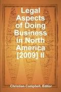 Legal Aspects of doing Business in North America [2009] II
