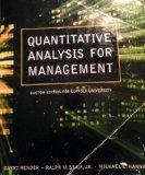 Quantitative Analysis for Management Suffolk University Custom Ed.