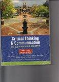Critical Thinking & Communication: The Use of Reason in Argument (Custom Edition for East Te...