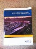 College Algebra Custom Edition for Kaplan University (taken from Beginning and Intermediate ...