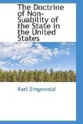 Doctrine of Non-Suability of the State in the United States