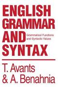 English Grammar and Syntax Grammatical Functions and Syntactic Values