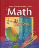 McDougal Littell Middle School Math: Students Edition Book 1 2004