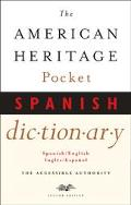 American Heritage Pocket Spanish Dictionary Spanish English - English Spanish