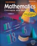 Pre-Algebra: Mathematics Concepts and Skills Course 2 California