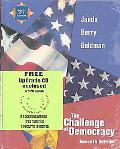 Challenge Of Democracy And Upgrade Cd-rom, Seventh Edition