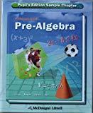 Pre-Algebra Pupil's Edition Sample Chapter