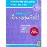 En Espanol: Level 3 Actividades Para Todos (Spanish Edition)