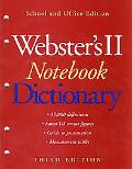 Webster's II Notebook Dictionary School And Office Edition