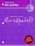 ?En espa?ol!: Mas practica cuaderno (Workbook)with Lesson Review Bookmarks Level 3 (Spanish ...