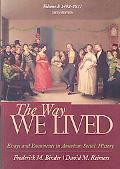 Way We Lived - Volume 1