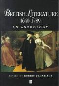 British Literature 1640-1789:anthology