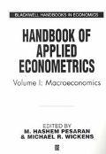 Handbook of Applied Econometrics Macroeconomics