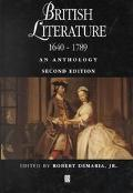 British Literature 1640-1789 An Anthology