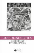 Sociolinguistics Method and Interpretation