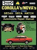 Corolla'S/Nova's 1985-1998 Automobile Repair Manual  Sedan, Seca, Hatch, Including Coupe & 4...