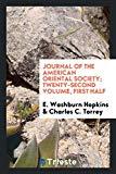 Journal of the American Oriental Society; Twenty-Second Volume, First Half