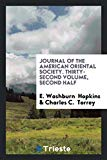 Journal of the American Oriental Society. Thirty-Second Volume, Second Half