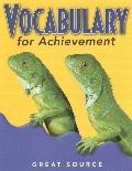 Vocabulary for Achievement: Grade 3