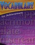 Vocabulary for Achievement - 4th Course