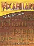 Vocabulary for Achievement Sixth Course