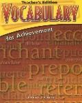 Vocabulary for Achievement: Sixth Course