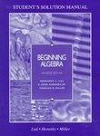 Beginning Algebra: Student's Solution Manual