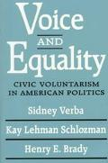 Voice and Equality Civic Voluntarism in American Politics