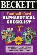 Beckett Football Card Alphabetical Checklist, Vol. 1