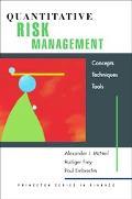 Quantitative Risk Management Concepts, Techniques And Tools